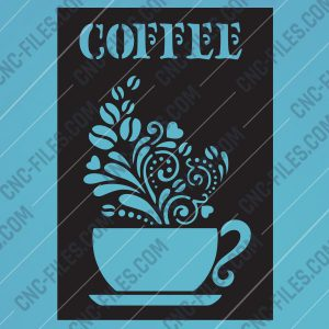 Coffee Design file - EPS AI SVG DXF CDR