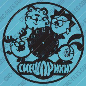 cncfilescom-cnc-kikoriki-clock-130-1