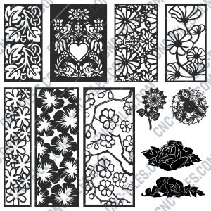 Pack Flowers design files - DXF EPS AI SVG PDF CDR
