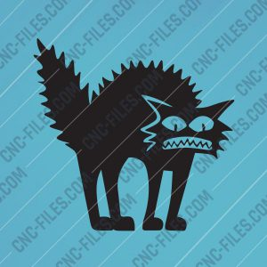 Shaggy cat Design file - EPS AI SVG DXF CDR