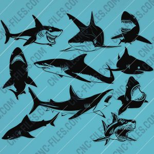 Shark Design file - EPS AI SVG DXF CDR