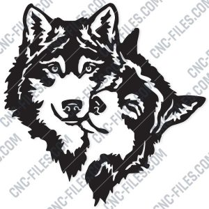 Two Wolves Design file - EPS AI SVG DXF CDR