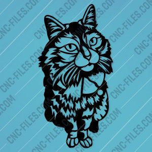 Panno cat Design file - EPS AI SVG DXF CDR
