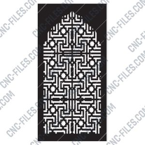 Pattern panel screen Design files - EPS AI SVG DXF CDR R00152