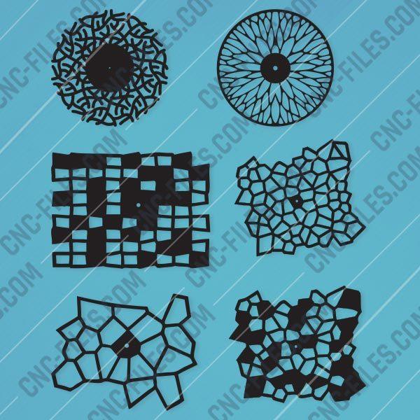 Wall clocks design files - EPS AI SVG DXF CDR