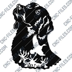 Engraving Dog Vector Design file - EPS AI SVG DXF CDR