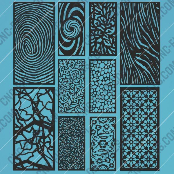 Panels Patterns And Scenes Decorative DXF SVG CDR EPS PNG AI P008