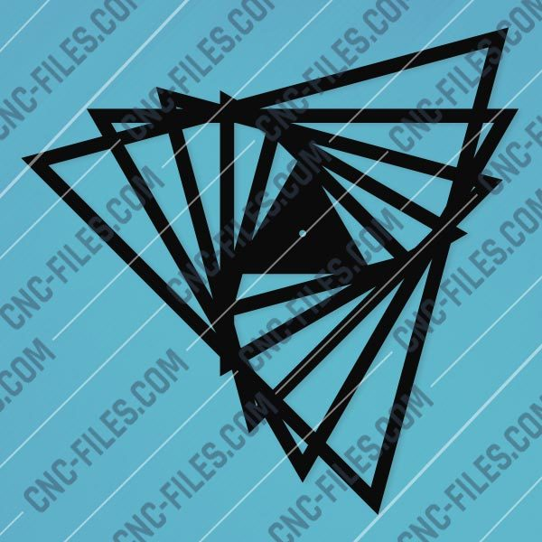 Triangle clock Design files - DXF SVG CDR EPS AI