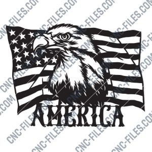 American Flag Eagle Design files - DXF SVG EPS AI CDR