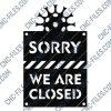 We are closed for quarantine notification - Coronavirus - design files - DXF SVG CDR EPS AI