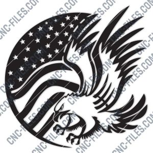 American Eagle Flag Design files - DXF SVG EPS AI CDR
