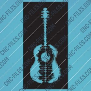 Guitar Art Vector design files - DXF SVG EPS AI CDR