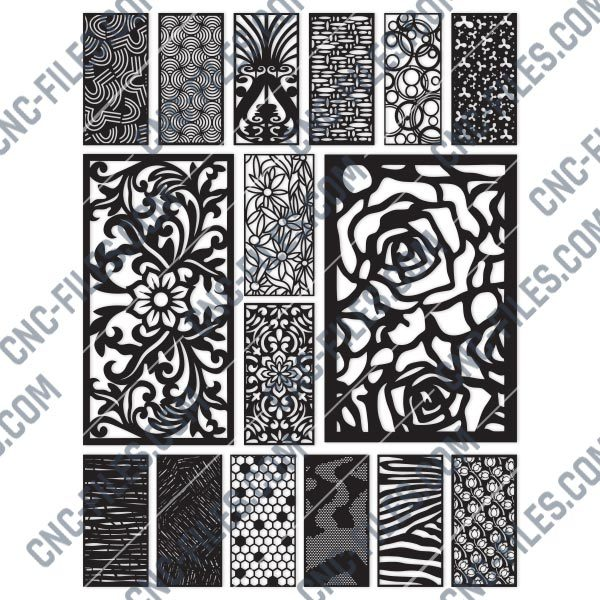 Panels Patterns And Scenes Decorative DXF SVG CDR EPS PNG AI P086