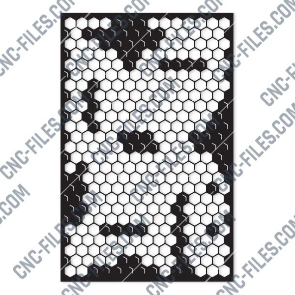 Honeycomb Pattern Design files - DXF SVG EPS AI CDR