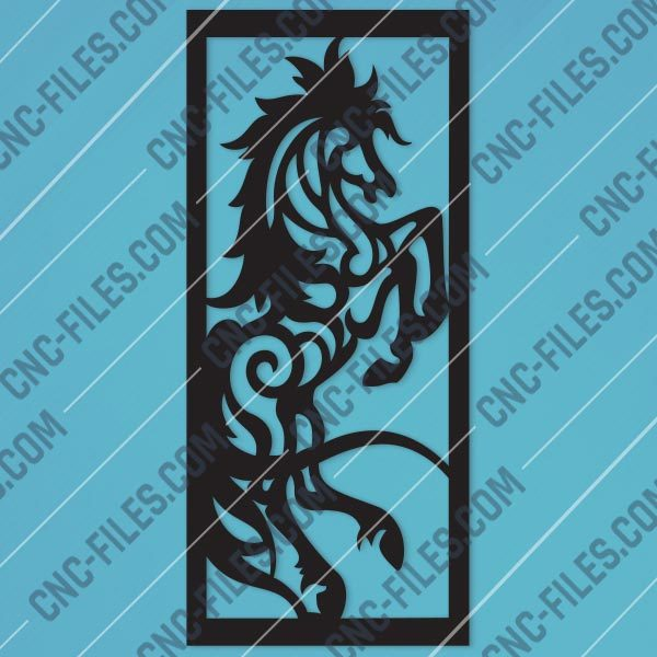 Horse Wall Art Design files - DXF SVG EPS AI CDR