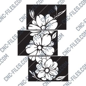 Hibiscus Flowers Cut Design files – DXF SVG EPS AI CDR