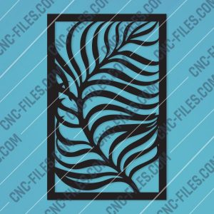 Leaf style gate Design files - DXF SVG EPS AI CDR