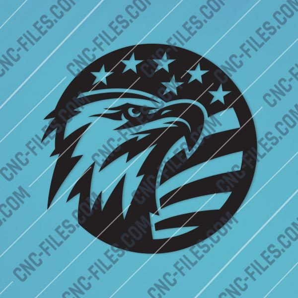 American Eagle Design files P0206 - DXF SVG EPS AI CDR