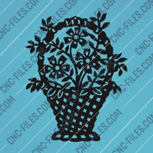 Bouquet of flowers Vector Design files - DXF SVG EPS AI CDR