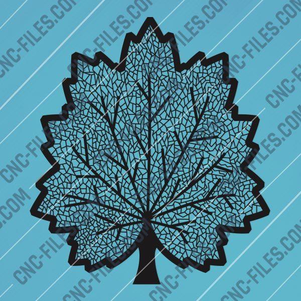 Maple leaf design files - DXF SVG EPS AI CDR