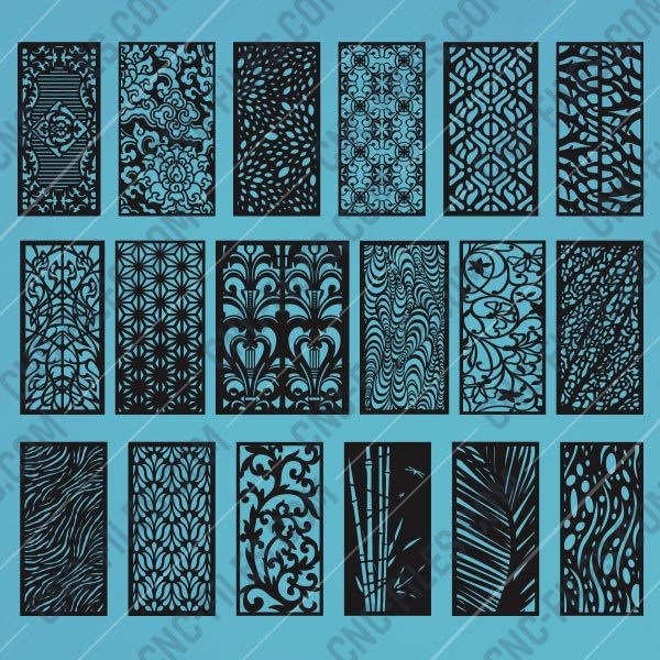 Panels Patterns And Scenes Decorative DXF SVG CDR EPS PNG AI P0218