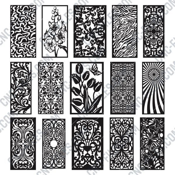 Panels Patterns And Scenes Decorative DXF SVG CDR EPS PNG AI P0220