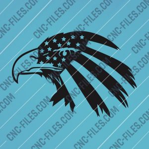 American Eagle Design files P0227 - DXF SVG EPS AI CDR