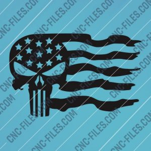 Patriotic USA Flag American Vector Design files - DXF SVG EPS AI CDR