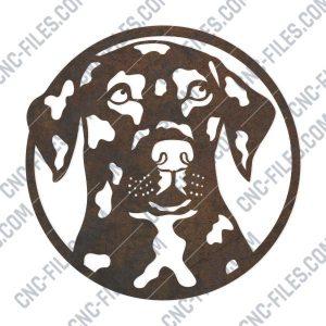 Dog Face design files - DXF SVG EPS AI CDR