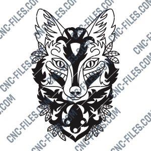 Ornament fox design files - DXF SVG EPS AI CDR