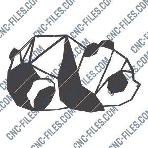 Panda design files – DXF SVG EPS AI CDR
