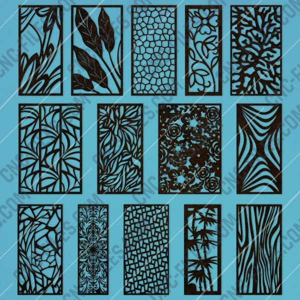 Panels patterns and scenes decorative DXF SVG CDR EPS PNG AI P0047