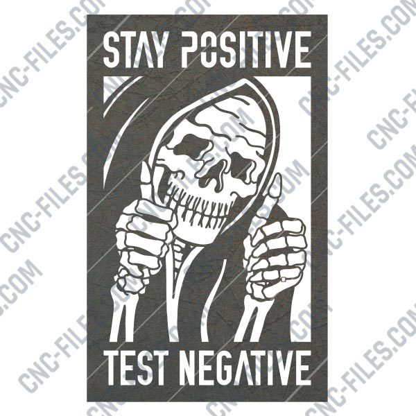 Test negative stay positive vector design files - DXF SVG EPS AI CDR