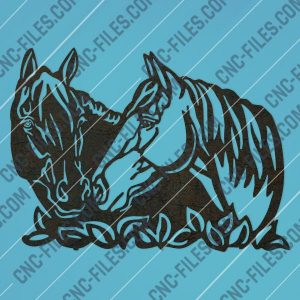 Horses wall art design files – DXF SVG EPS AI CDR