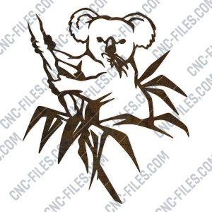 Koala vector design files - DXF SVG EPS AI CDR