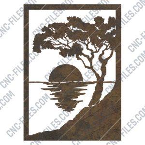 Sea light ocean wall decoration design files - DXF SVG EPS AI CDR