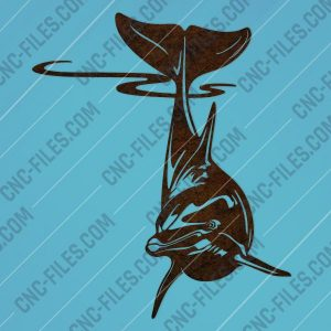 Dolphin vector design files - DXF SVG EPS AI CDR