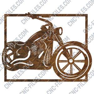 Harley davidson bike vector design files - DXF SVG EPS AI CDR