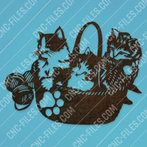 Cats vector design files - SVG DXF EPS AI CDR