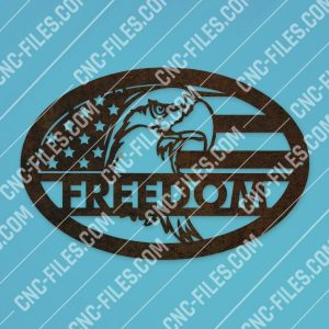 Eagle freedom design files - DXF CDR EPS AI SVG