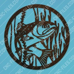 Fishing vector design files - SVG DXF EPS AI CDR