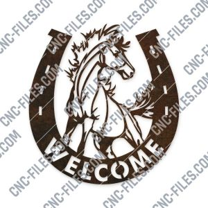 Horseshoe welcome vector design files – DXF SVG EPS AI CDR