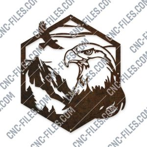 Majestic bald eagle american vector design files - DXF SVG EPS AI CDR